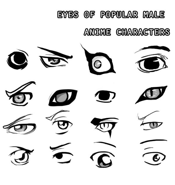 Eyes Of Male Anime Characters By Jigokuonna On Deviantart Manga Eyes Anime Eyes Boy Sketch