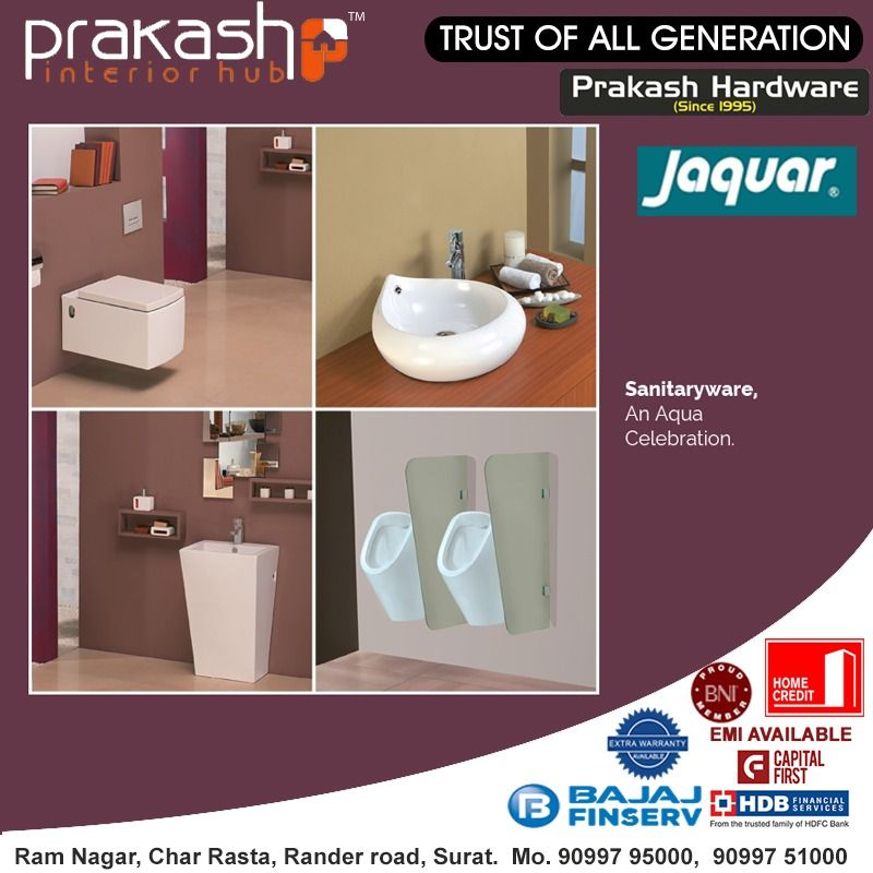 Jaquar Sanitaryware Provides You With A Wide Range Of Designs And Features To Enhance Your Bathroom Decor Perfectly Address Prakash Interior Hub Ram Nagar