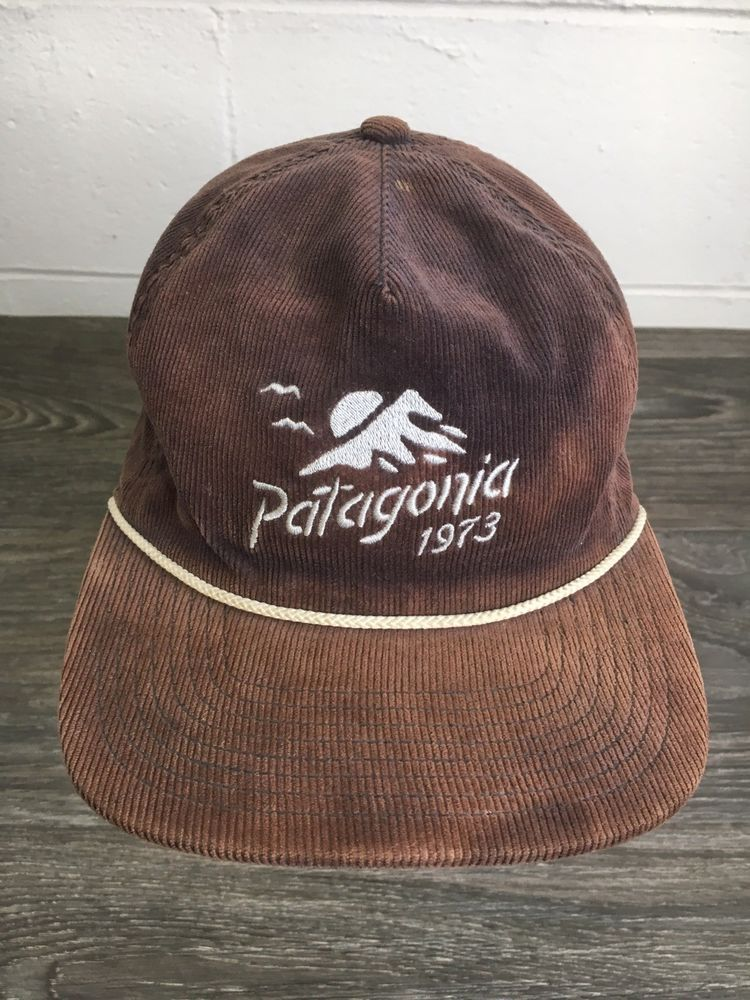 Patagonia Corduroy 1973 Hat Rope Bill Rare Snapback Mountain Faded Outdoors   Patagonia  River 835e1bb4d6f
