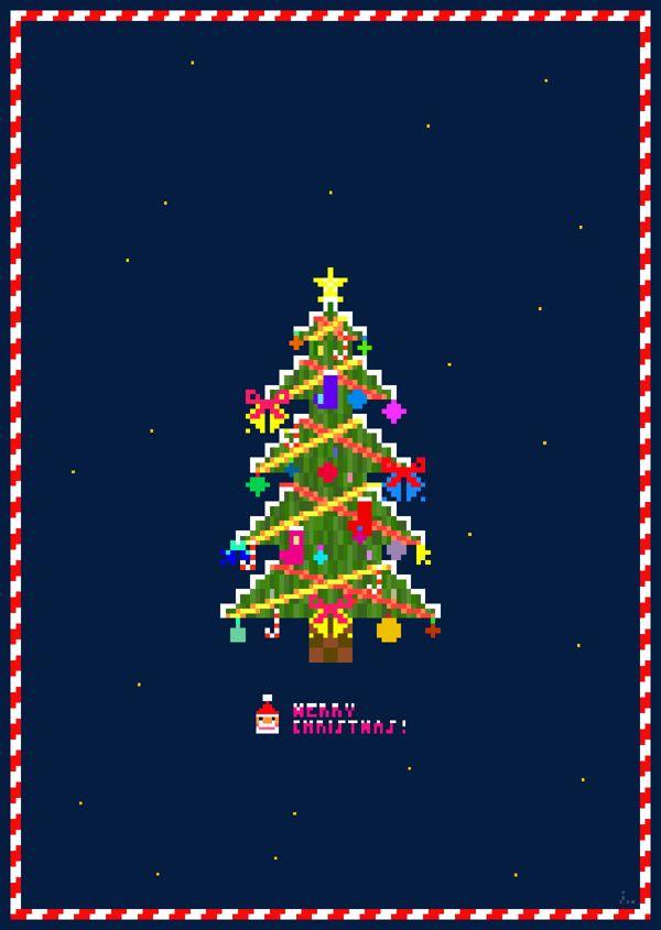 1 merry christmas pixel 8 bit 8bit tree retro art - Merry Christmas Games