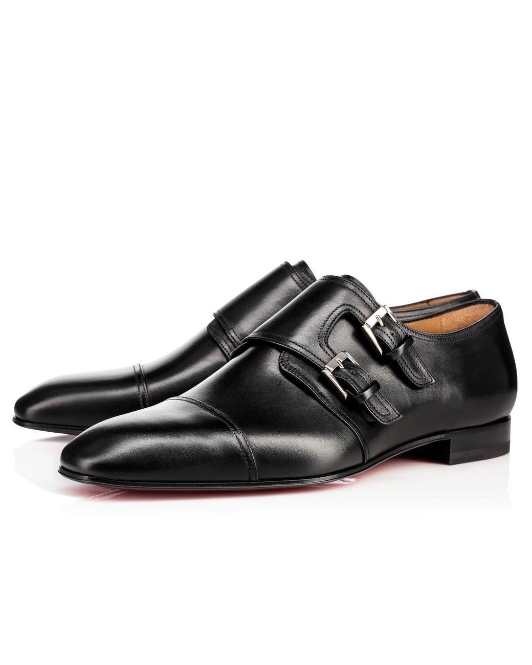 798d8703a7a Christian Louboutin | Black Mortimer Flat for Men | Lyst | Men's ...