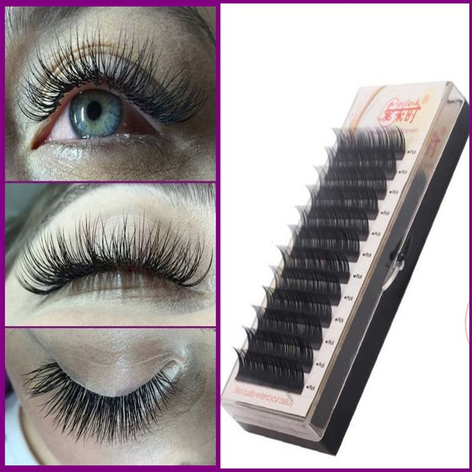 5833d994a14 High Quality 0.07 D Curl Mink Lashes Black Individual False Eyelash  Extension Thick Fake Eye Lash 8MM to 15MM Free Shipping