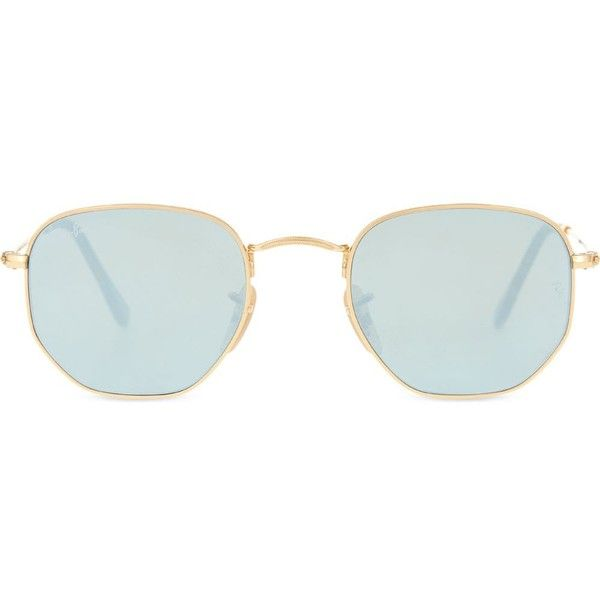 503777ba39 Ray-Ban RB3548 hexagonal-frame sunglasses ( 175) ❤ liked on Polyvore  featuring accessories
