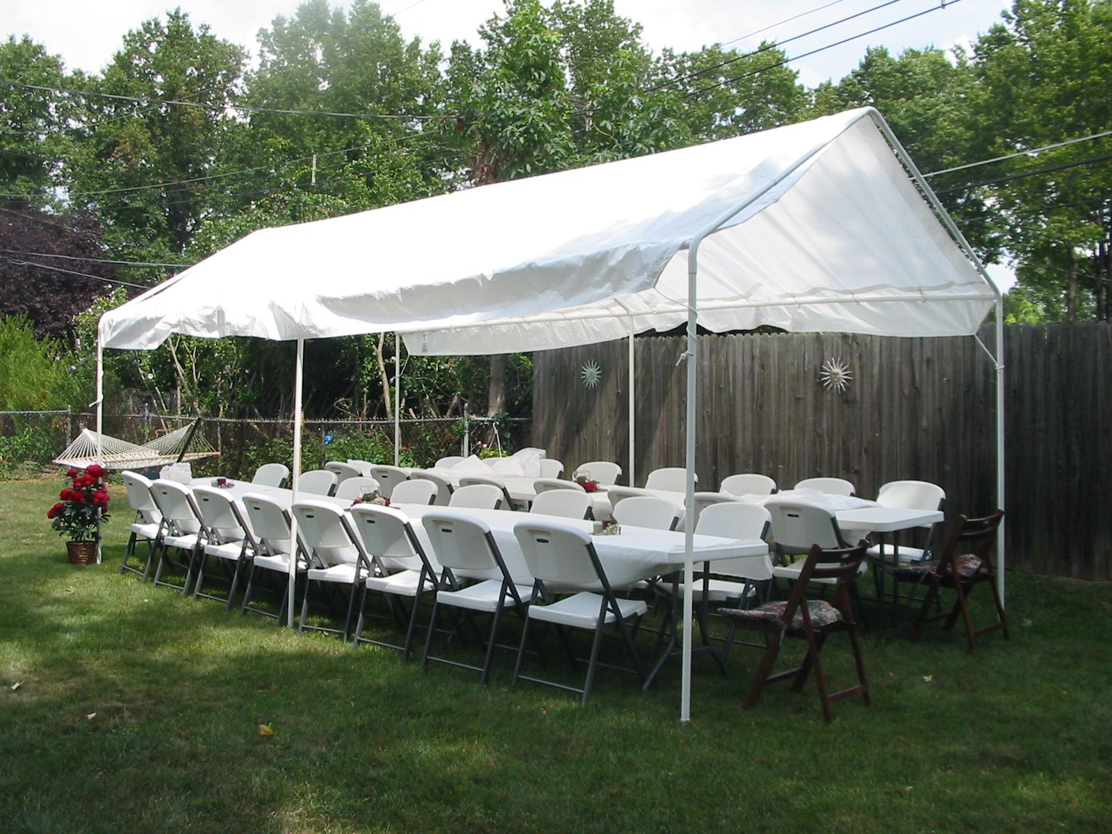 Quictent 10 X 20 Party Tent With 4 Sides And 2 Zipper Doors White Party Tent Party Tents For Sale Carport Tent