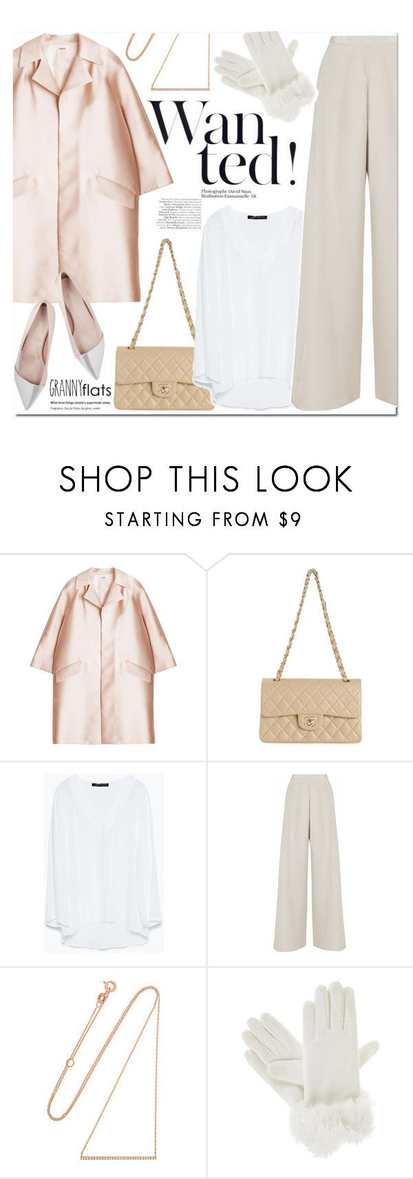 """""""Cute Trend: Granny Flats"""" by stellaasteria ❤ liked on Polyvore featuring ADAM, Chanel, Zara, Nicole Coste, Diane Kordas, Isotoner and Giambattista Valli"""
