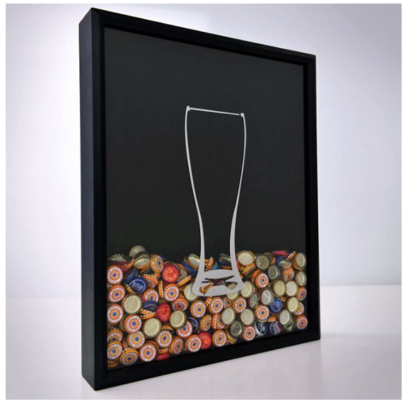 There are so many reasons to love Beer Cap Shadow Box: Prevents ...