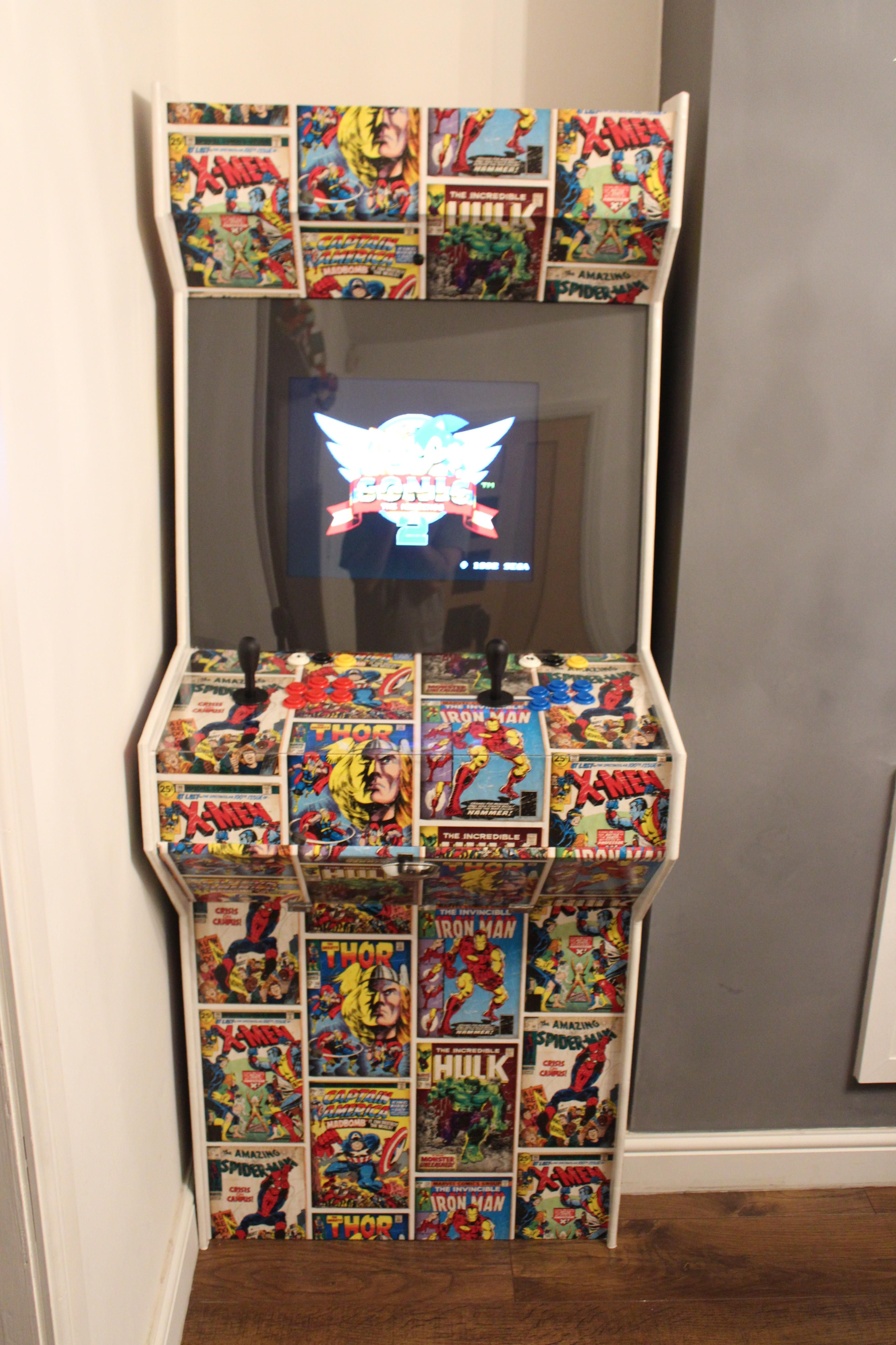 Raspberry Pi Game Cabinet I Built My Kids An Arcade Cabinet Using A Raspberry Pi And Loaded