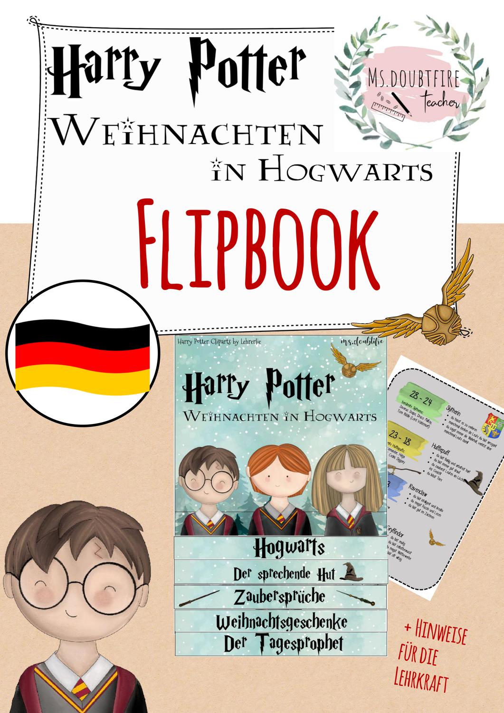 Flipbook Harry Potter Weihnachten In Hogwarts Unterrichtsmaterial In Den Fachern Daz Daf Deutsch Hogwarts Daumenkino Der Sprechende Hut