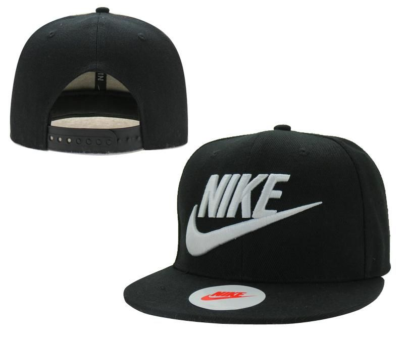 375440f47b0 Mens Nike True Nike 3D Embroidery Logo 6 Panel Sports Classic Baseball  Adjustable Snapback Cap - Black   White