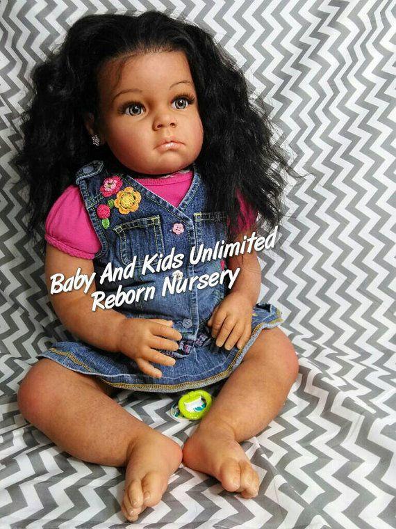 Aa Reborn Toddler Baby African American Biracial Custom Made To Order Aa Life Like Baby Reborn Baby Made From Tatiana Kit Real Life Baby Dolls Reborn Toddler Reborn Babies