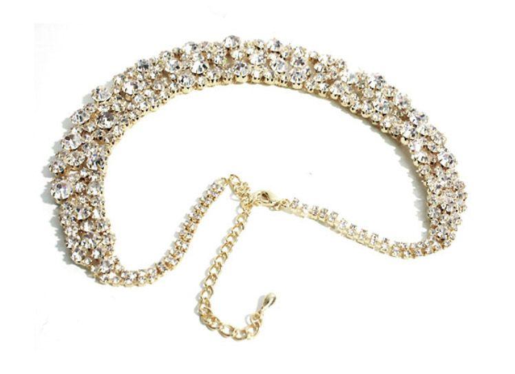 Chandelier gem beads necklace
