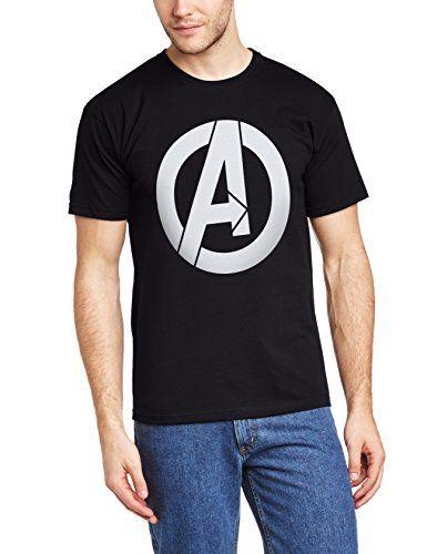 e4b90ac38f7 Marvel BILAA00058-BLACK - Camiseta de manga corta para hombre, color  schwarz/schwarz, talla Small #camiseta #starwars #marvel #gift