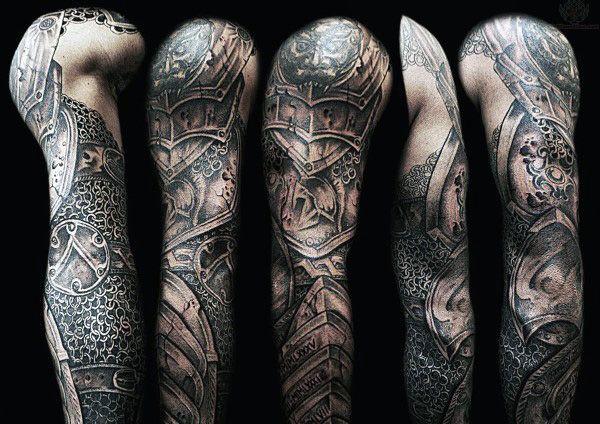Warrior Armor Tattoo Sleeve