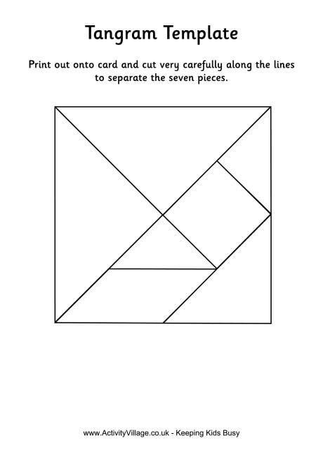 photograph regarding Tangram Puzzle Printable called Tangram template - black and white, colour furthermore out there