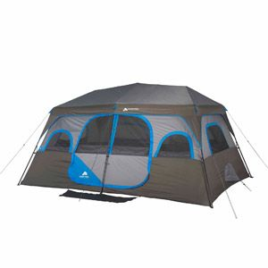 $179.97 Ozark Trail 10-Person 2 Room Instant Cabin Tent sets up in 2  sc 1 st  Pinterest & $179.97 Ozark Trail 10-Person 2 Room Instant Cabin Tent sets up ...