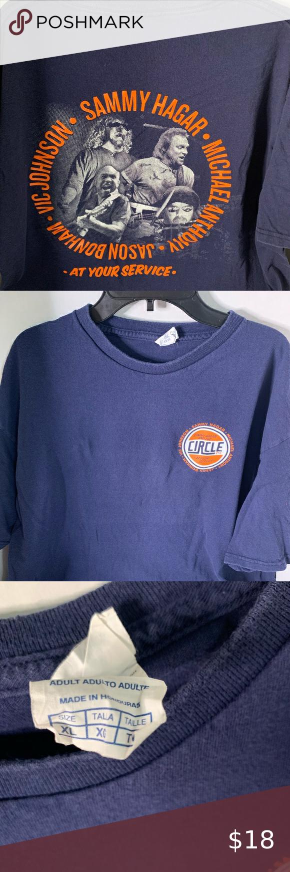 Sammy Hagar And The Circle Shirt In 2020 Navy Shirt Fashion Sale Clothes Design