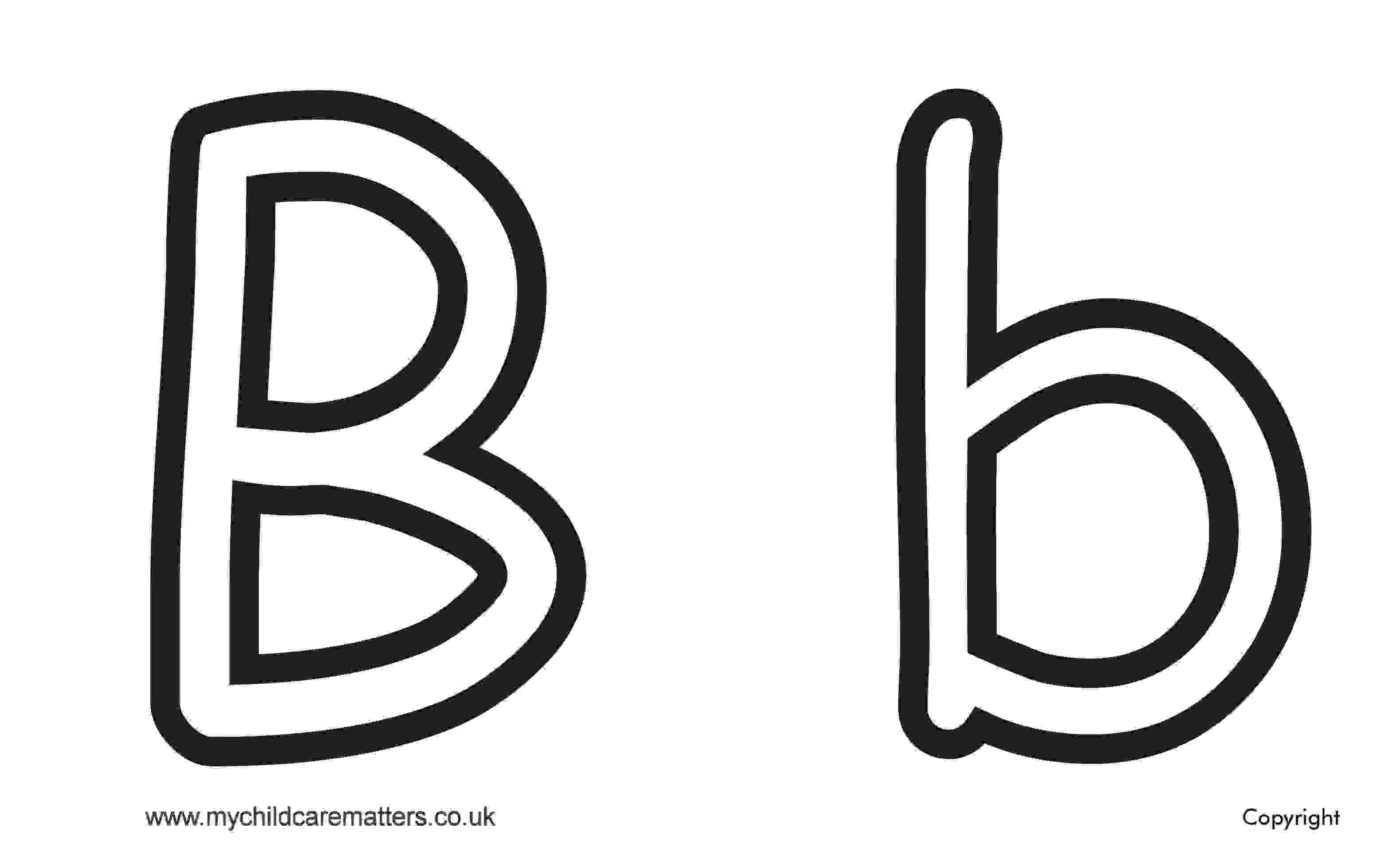 Letter B Colouring Page, Letter