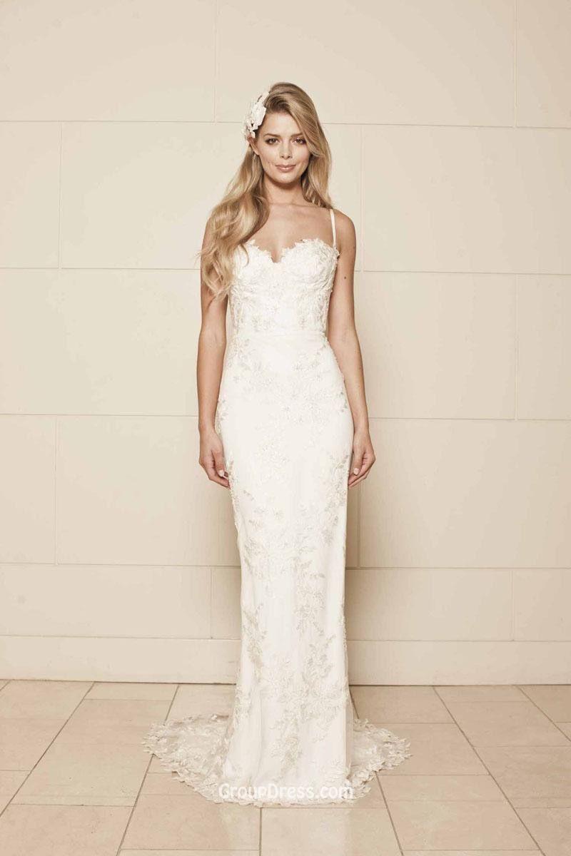 Lace strap wedding dress  Pin by Holly Syrett on Wedding HuH  Pinterest  Wedding