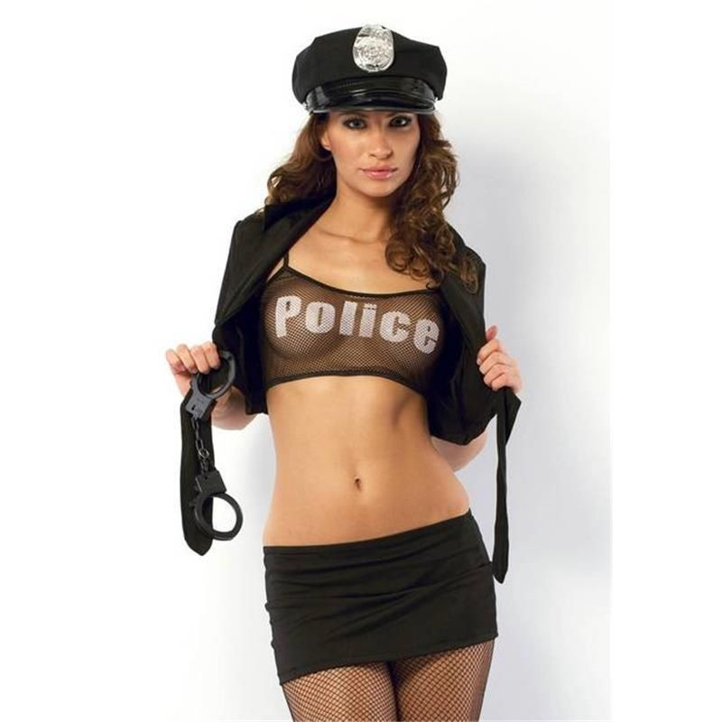 Poliece woman stripper