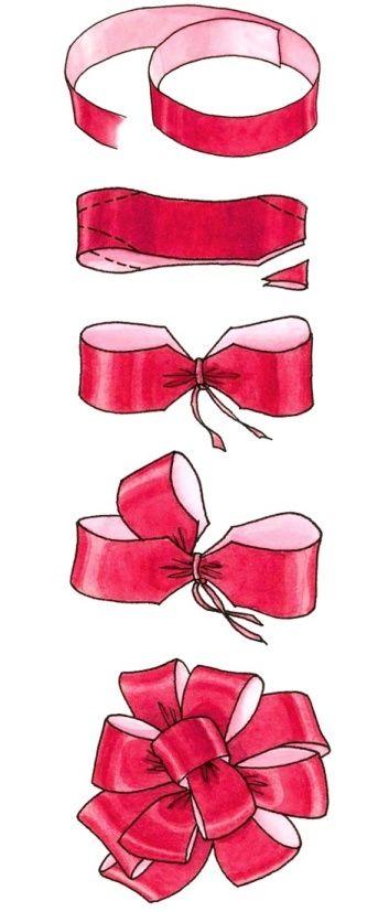 Лента для подарков завязать 171