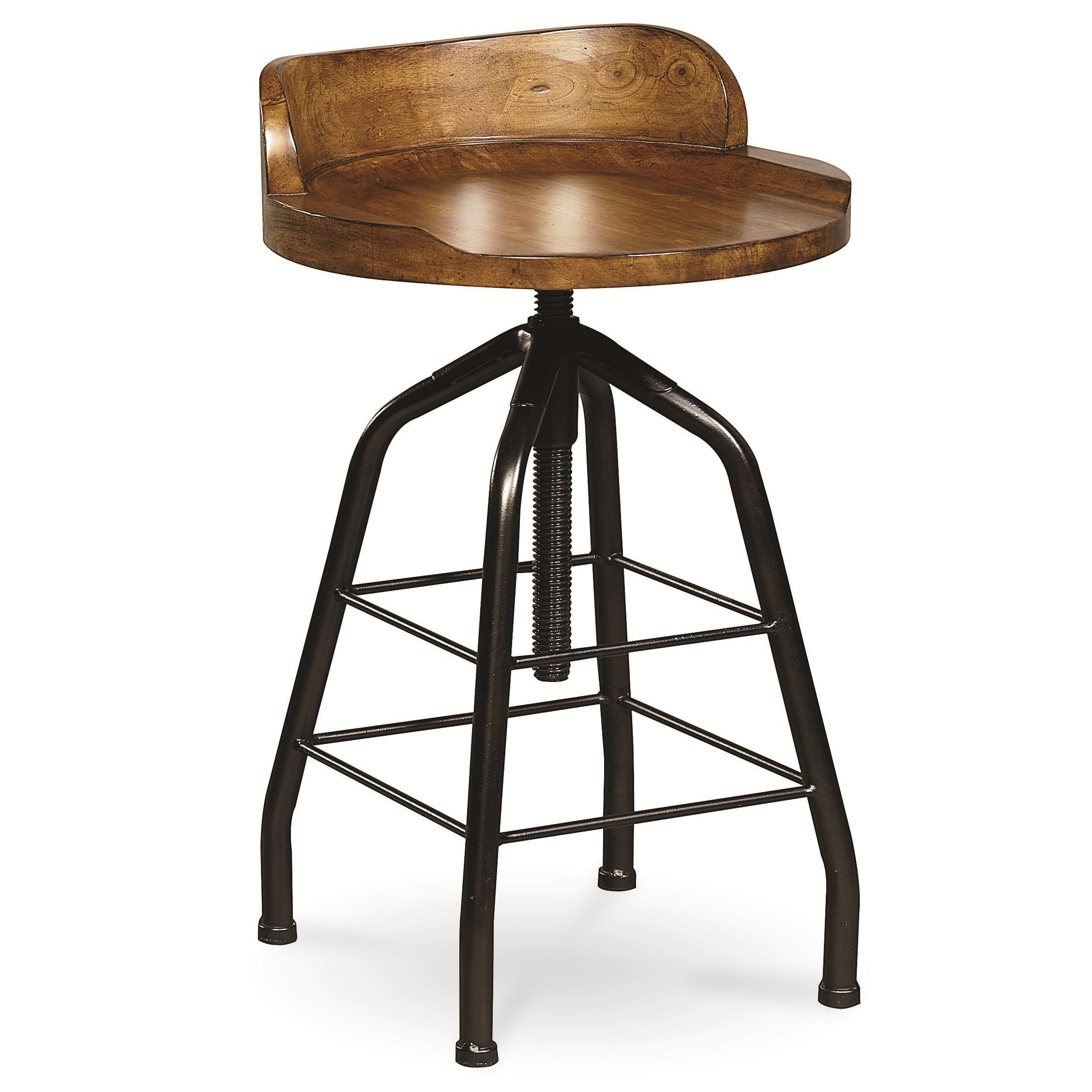 Curated Potter's Stool with Swivel Height Adjustment by O