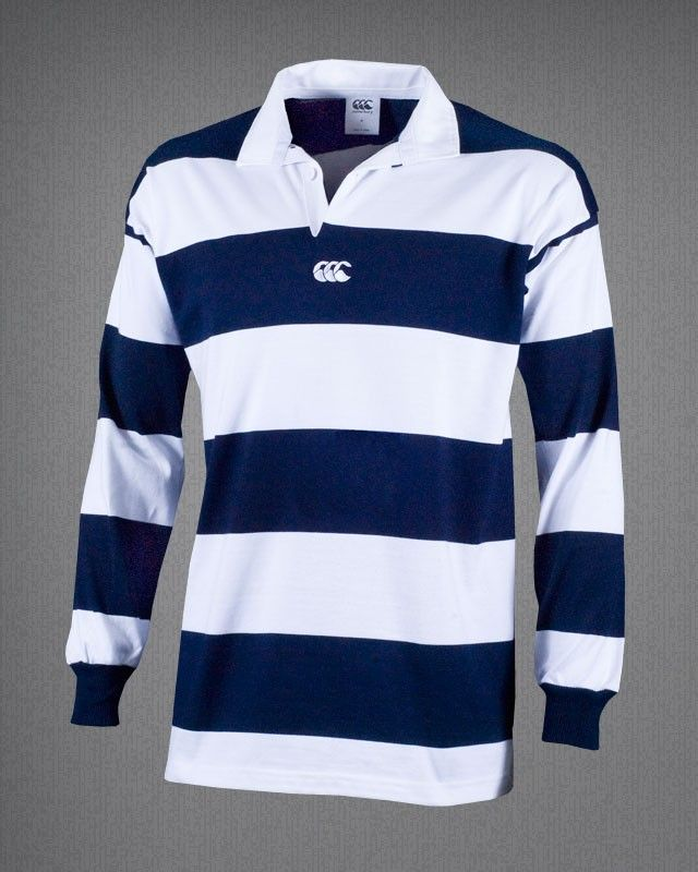 canterbury of nz hoop rugby shirt navy white casual