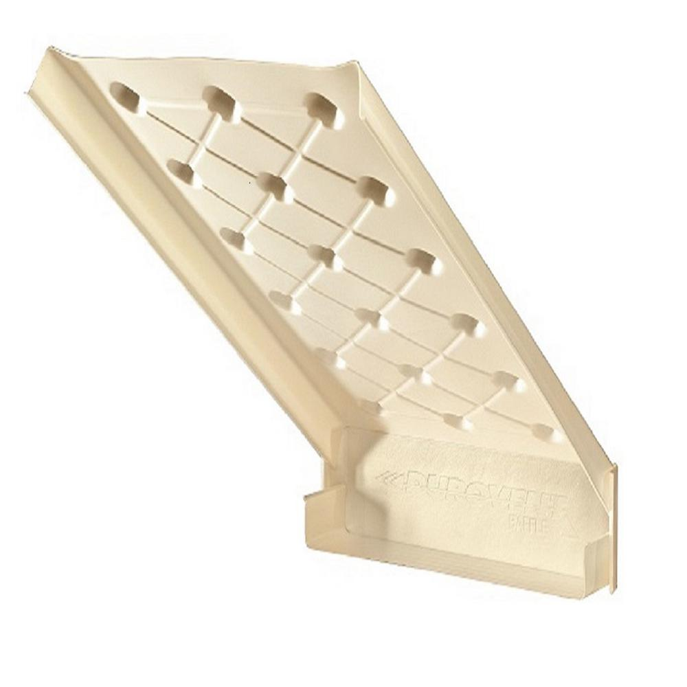 Ado Products Durovent 23 1 2 In X 46 In Rafter Vent With Built In Baffle 10 Ctn Attic Vents Attic Ventilation Insulation Baffles
