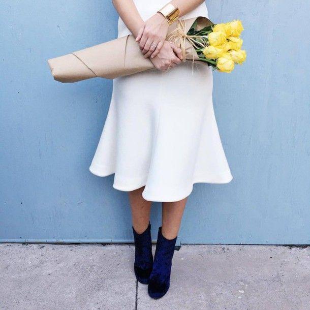 White midi dress tumblr color