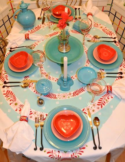 fiestaware tablescape - AT Yahoo! Search Results | Fiesta ...