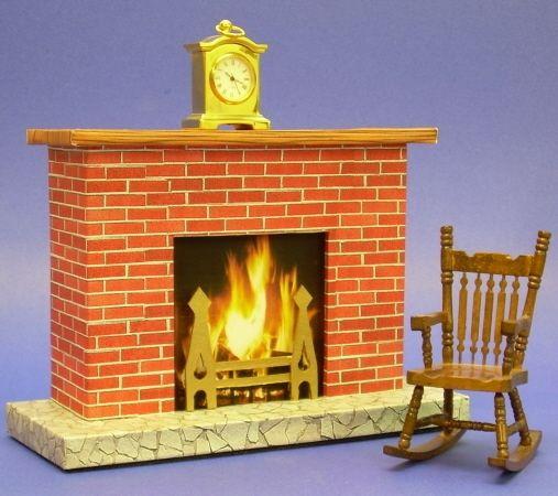 Miniature Cardboard Fireplace Paper Houses Cardboard
