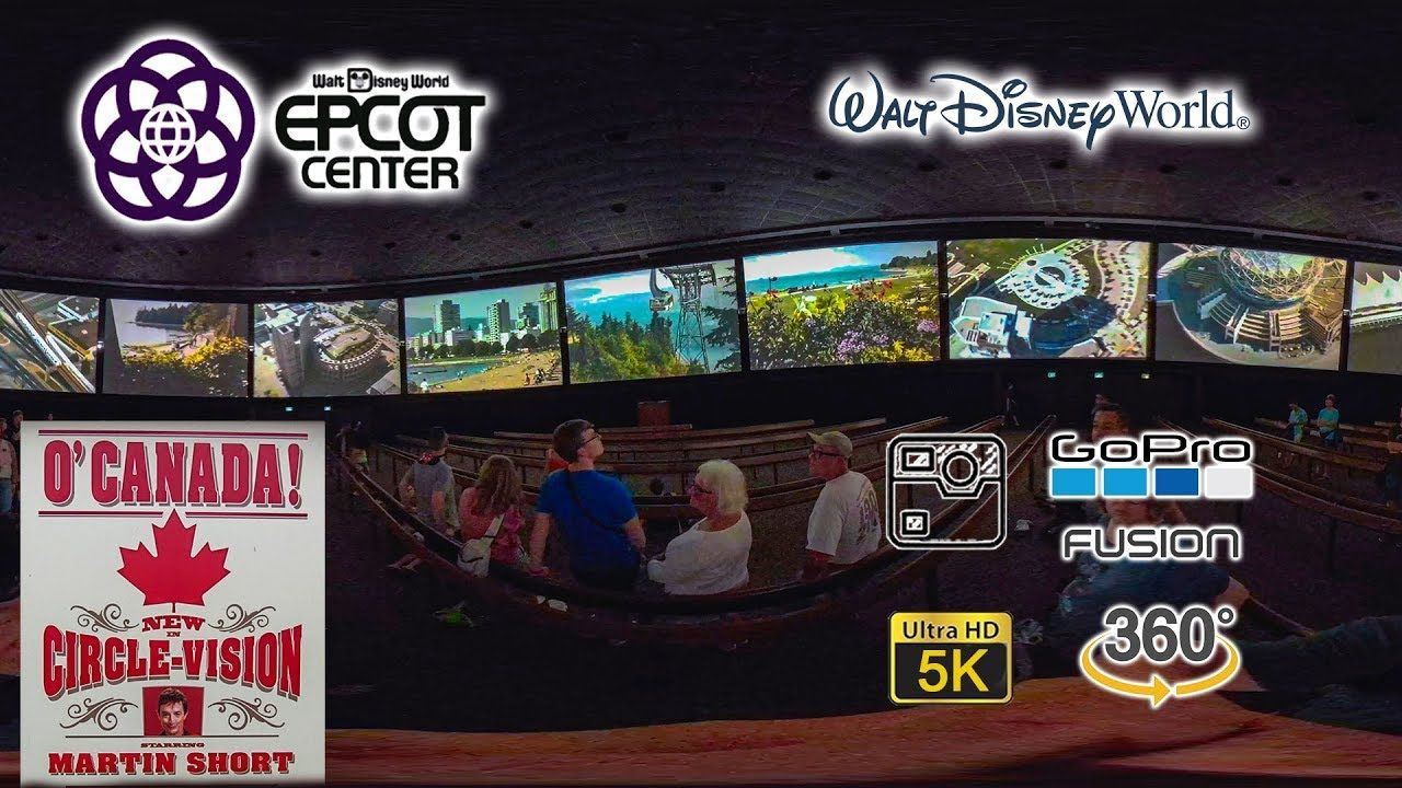 July 2019 Vr 360 O Canada Complete Show Epcot Walt Disney World Gopro Disney World Epcot Walt Disney