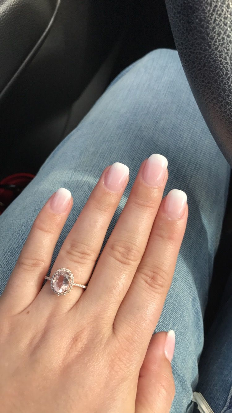 Ombré pink and white acrylics