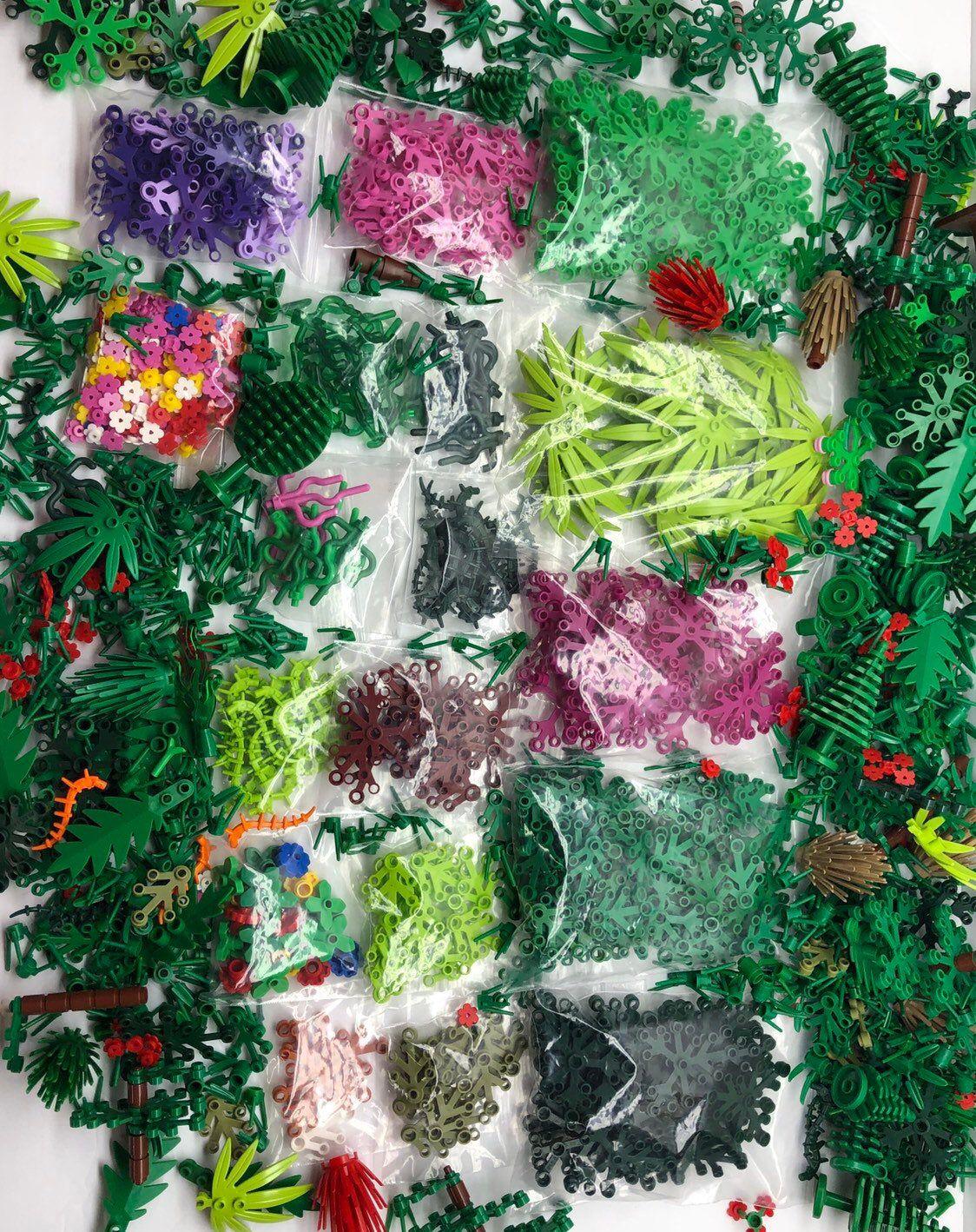 LEGO Elements Foliage Lot Botanical Trees Flowers Shrubs ...