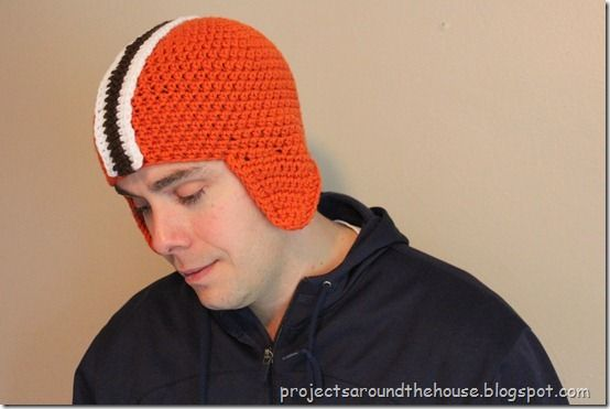 Crochet Football Helmet Hat Pattern Crochet Crochet Football Hat
