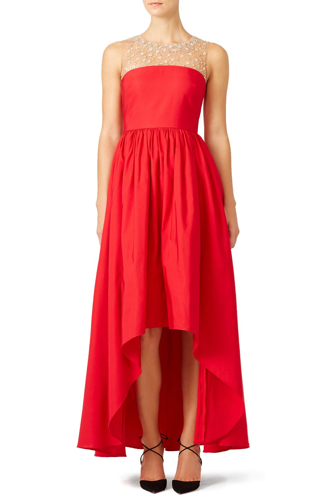 Rent Red Precision Gown by Marchesa Notte for $175 - $195 only at ...