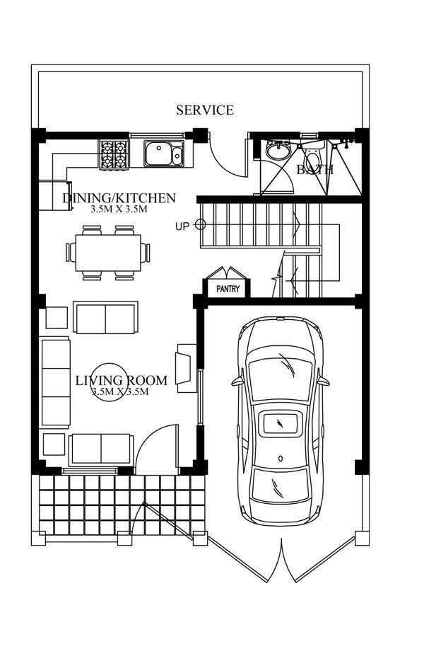 Modern House Designs Series Mhd-2012007 | Pinoy Eplans - Modern