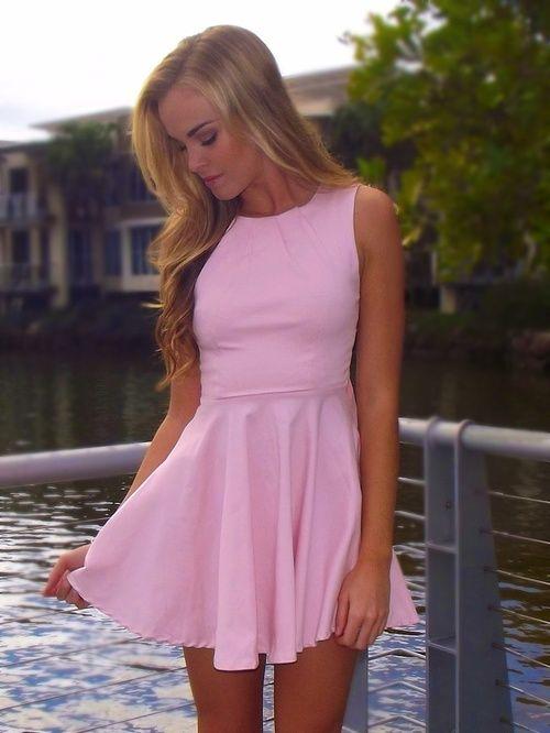b334a57b10a4 Baby Pink Skater Dress