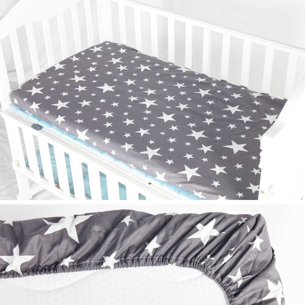 Midas 100 Cotton Crib Fitted Sheet Soft Baby Bed Mattress Cover