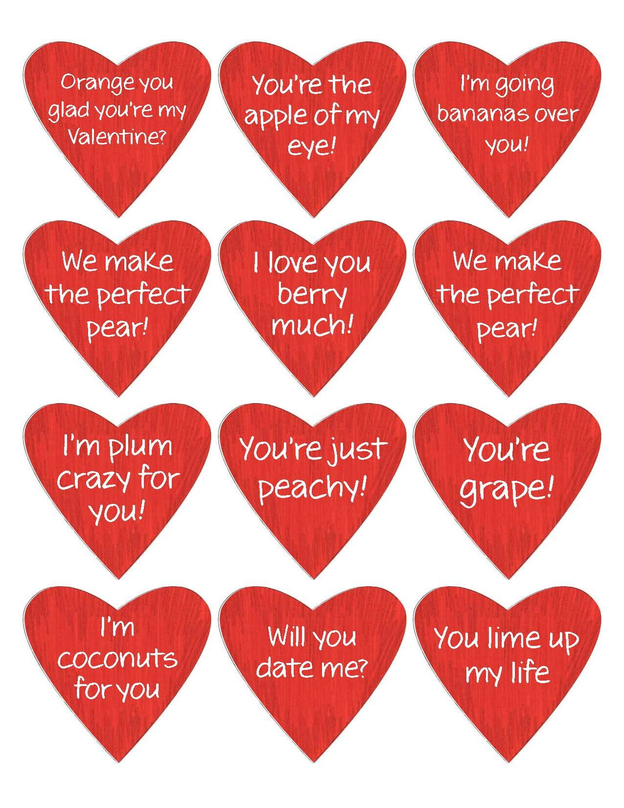 Valentine Fruit Basket Print As Stickers Or Tape On Fruit
