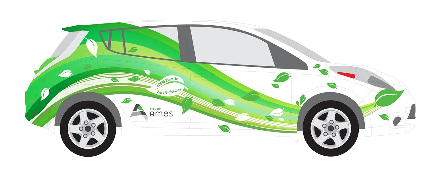 Nissan Leaf Electric Car Wrap On Behance Nissan Leaf Electric Cars Car Wrap Nissan Leaf