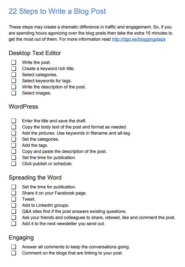 23 Steps to Write a Blog Post | Blogging | Blog, Social