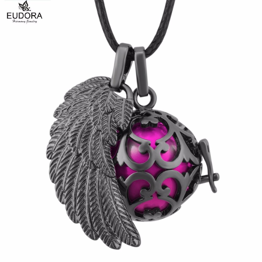 Fh234 eudora harmony ball chime ball angel wing locket cage pendant fh234 eudora harmony ball chime ball angel wing locket cage pendant gunmetal angel caller mexican bola aloadofball Images