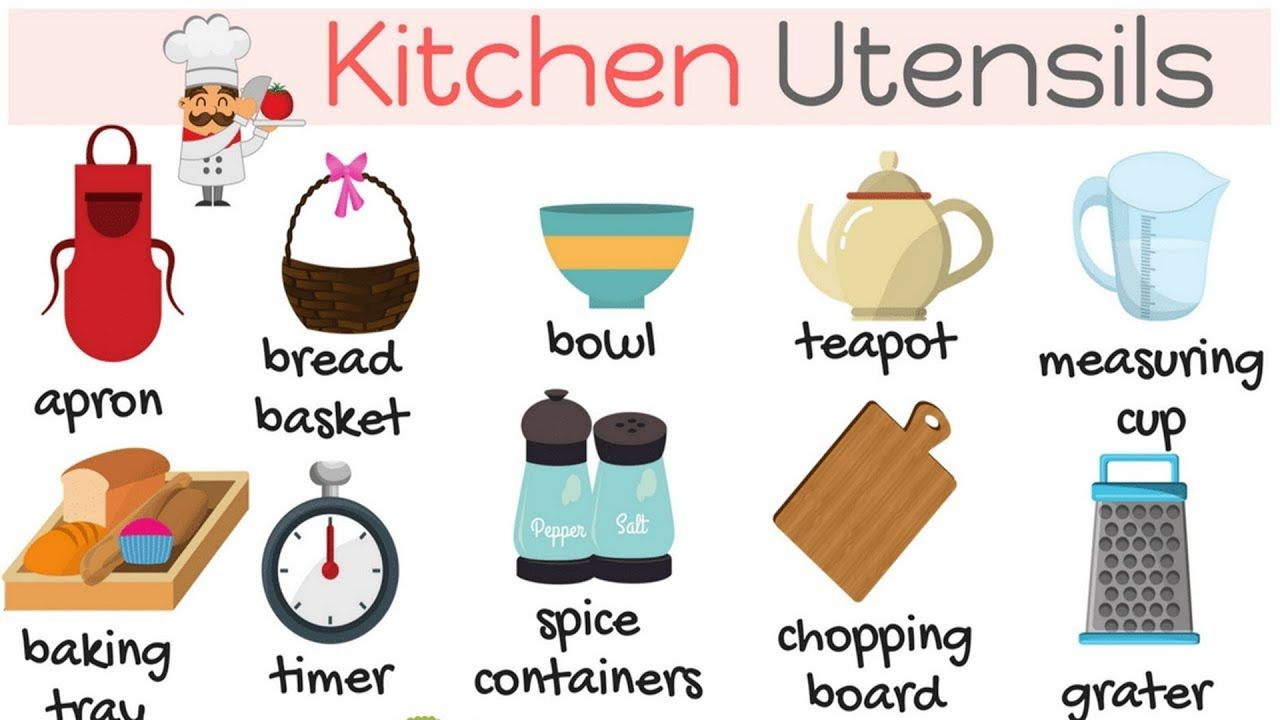 Kitchen Vocabulary Kitchen Utensils Vocabulary Things In The