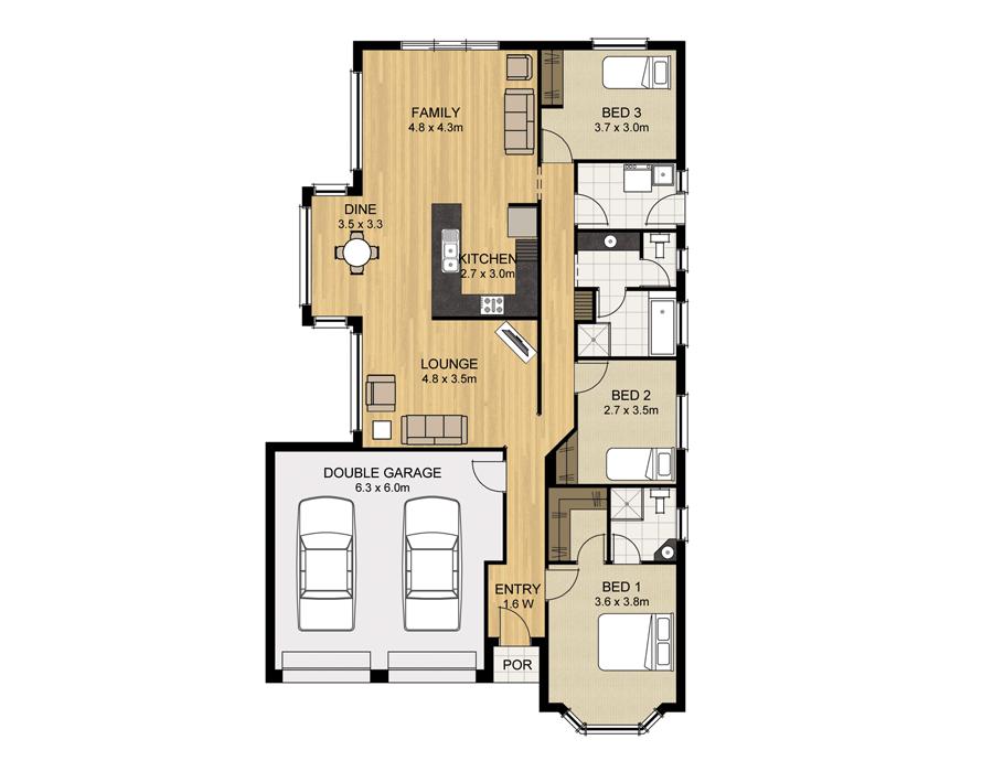 Lakeland 145 - Home Designs - Sterling HOmes - Home BUilders ...