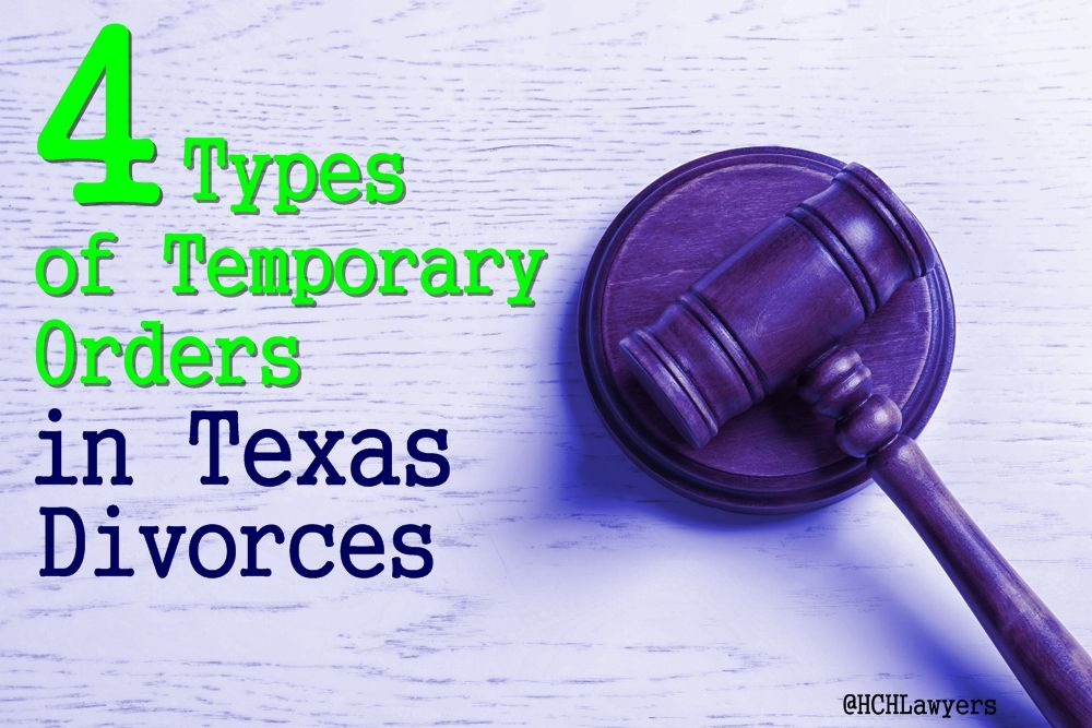 Temporary Orders Property Support Custody Injunctions Divorce Law Texas Law Custody Laws