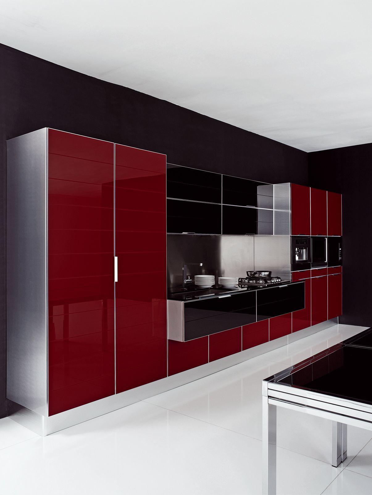 Volare Contemporary Design Contemporary Kitchen Cabinets Modern Kitchen Design Black Kitchen Decor