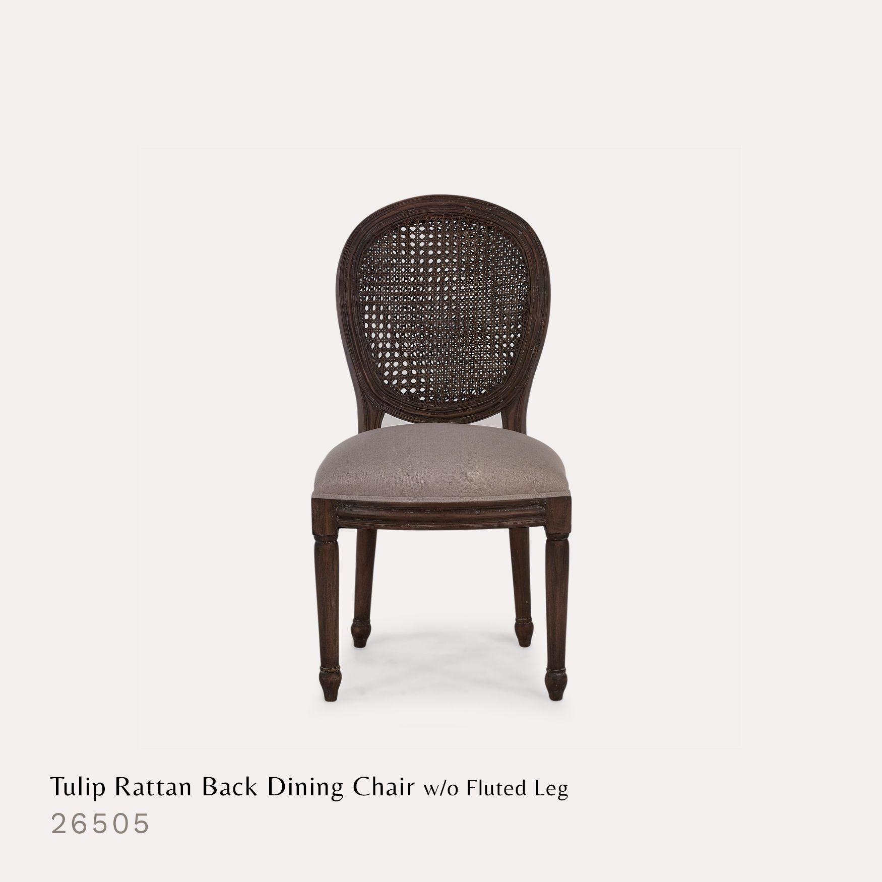 Tulip Rattan Back Dining Arm Chair Bramble Furniture Dining Chairs Upholstered Dining Chairs