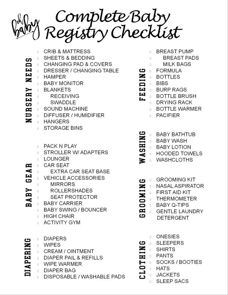 The Complete Baby Registry Checklist Check Out My Blog Post On