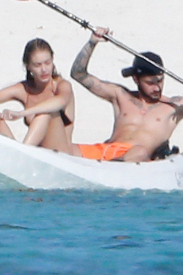 Pin for Later: Zayn Malik Strips Down to His Boxer Briefs During a Beach Day With Gigi Hadid in Tahiti