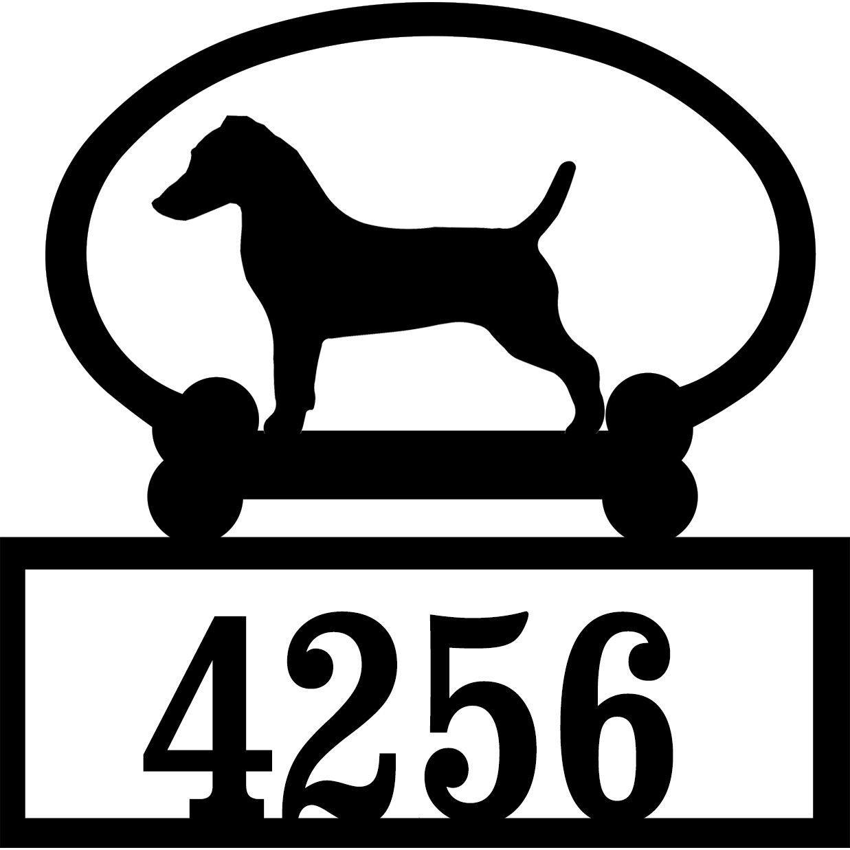 Sweeney Ridge Jack Russell Custom House Number Sign